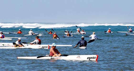 Kajak-Wettbewerb Mauritius